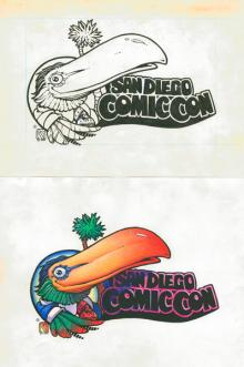 1990s SDCC logo original art
