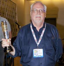 J. Michael Straczynski with the Comic-Con Icon Award