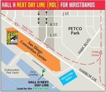 Comic-Con 2016 Hall H Next Day Line