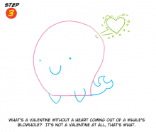 A Valentine's Day Whale Step 3
