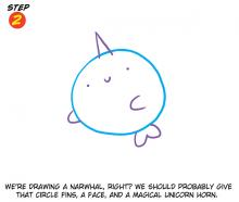 A Classy Narwhal Step 2