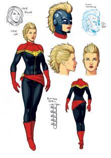 Captain Marvel original costume design by Jamie McKelvie