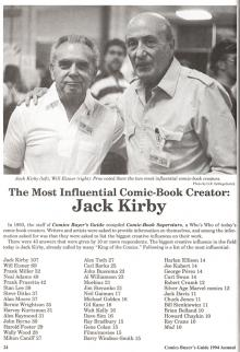 Jack Kirby and Will Eisner Centennials at Comic-Con International 2017