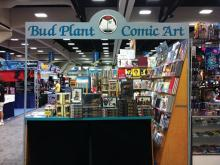 Bud Plant booth at Comic-Con