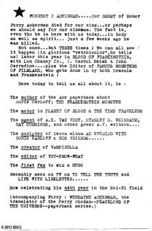1970 San Diego Comic-Con Program Book Page 4