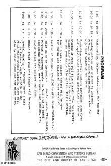 1970 San Diego Comic-Con Program Book Page 8