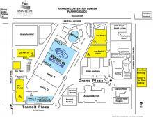 Anaheim Convention Center Parking Map