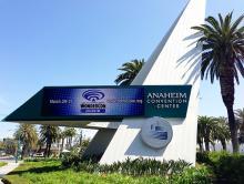 Anaheim Convention Center sign