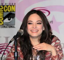 Kristin Kreuk at the Beauty and the Beast panel at WonderCon Anaheim