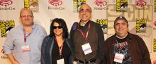 Mark Waid, Ann Nocenti, J.M. DeMatteis, and Dan Slott at WonderCon Anaheim