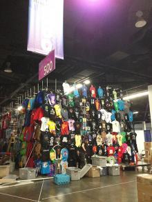 The Stylin booth at WonderCon Anaheim