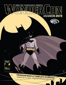 WonderCon Anaheim 2019 Program Book Cover