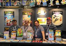 Bongo Comics booth at Comic-Con International San Diego