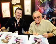 J. Scott Campbell and Stan Lee at Comic-Con International 2013