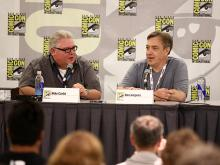 Mike Carlin and Dan Jurgens at Comic-Con International 2013