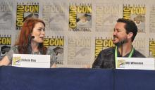 Felicia Day and Wil Wheaton at Comic-Con International 2013