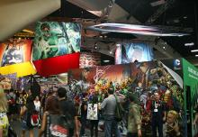 DC Entertainment booth at Comic-Con International 2013