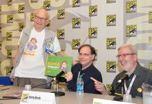Gene Deitch, Jerry Beck, and Leonard Maltin at Comic-Con International 2013