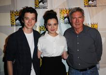 Asa Butterfield, Hailee Steinfeld, and Harrison Ford at Comic-Con International 2013