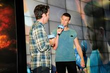 Matt Smith at the Marvel Comics booth at Comic-Con International 2013