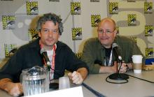Scott Allie and Mike Mignola at Comic-Con International 2013
