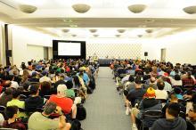 Program room at Comic-Con International 2013