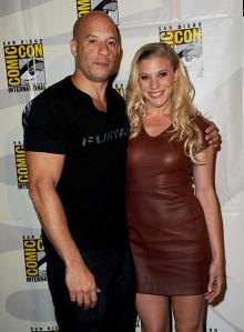 Vin Diesel and Katee Sackhoff at Comic-Con International 2013