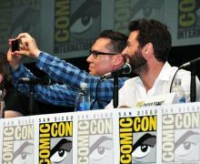 Bryan Singer and Hugh Jackman at Comic-Con International 2013