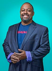 Marc Bernardin at Comic-Con International 2018, July 19–22 at the San Diego Convention Center