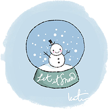 You Can Draw a Snow Globe!