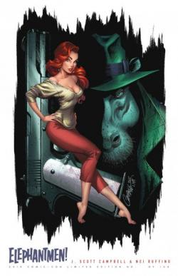 Elephantmen: Shots J. Scott Campbell Limited Edition Print (color)