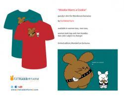 Wookie Wants a Cookie Parody Tee By Fat Rabbit Farm