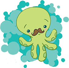 A Mustached Octopus!