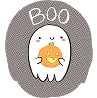 Katie Cook's Ghost with a Pumpkin