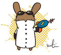 A Mad Scientist Bunny!