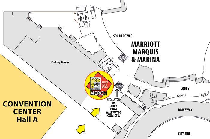 Comic-Con Merch Location