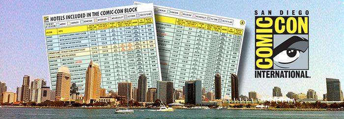 Comic-Con International 2014 Hotel List