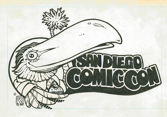San Diego Comic-Con Toucan Logo by Rick Geary