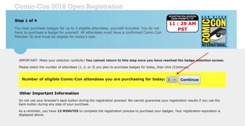Open Registration Select Members