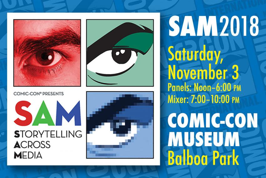 SAM: Storytelling Across Media, Nov. 3, 2018 in San Diego, CA