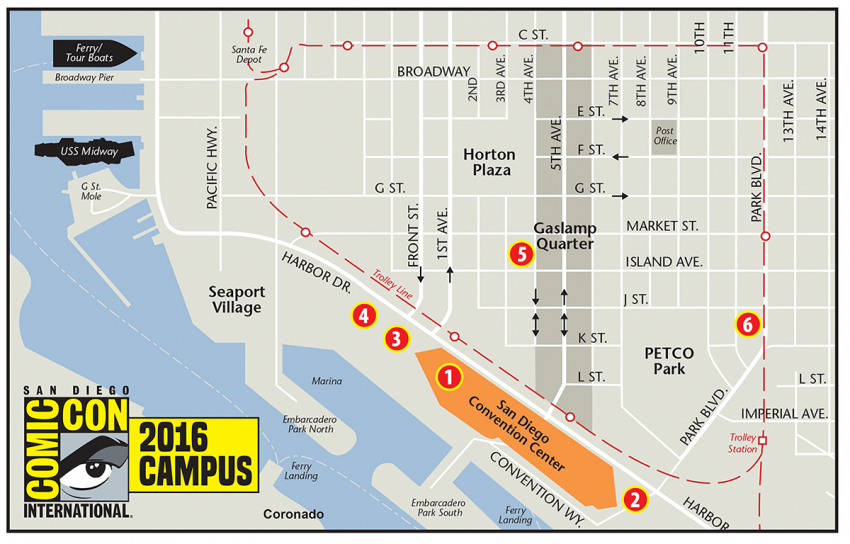 Comic-Con Campus 2016 Map