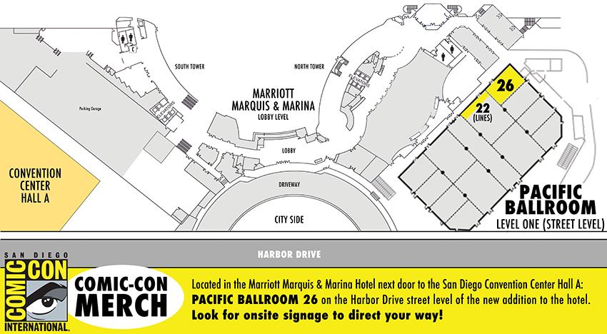 Comic-Con Merch New Location