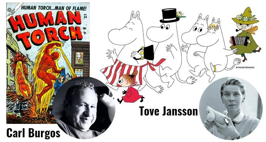 Carl Burgos and Tove Jansson for the Will Eisner Hall of Fame 2016