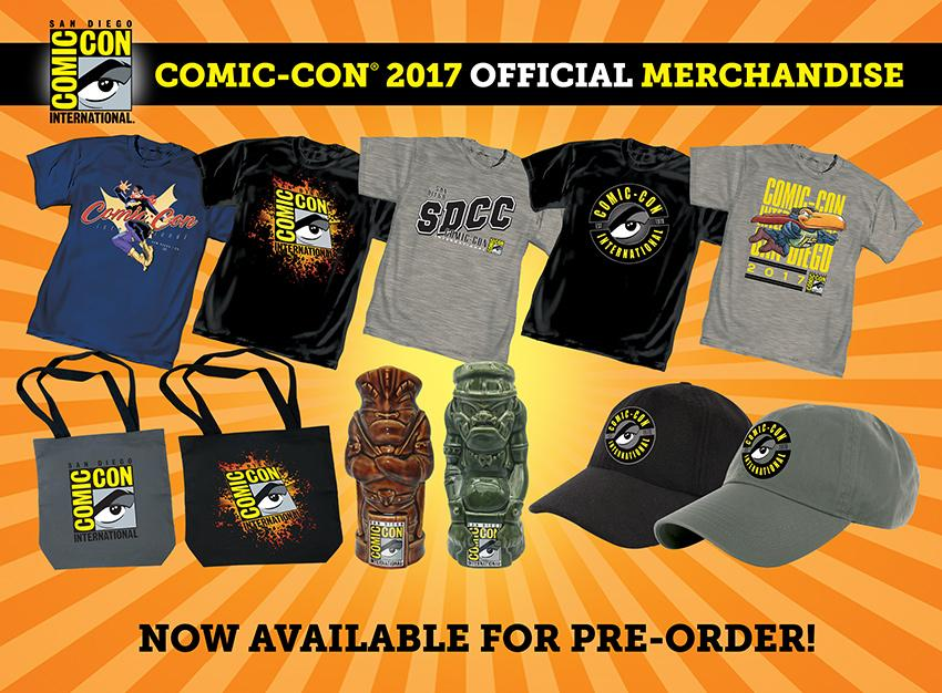 Comic-Con International 2017 T-shirts and Merchandise