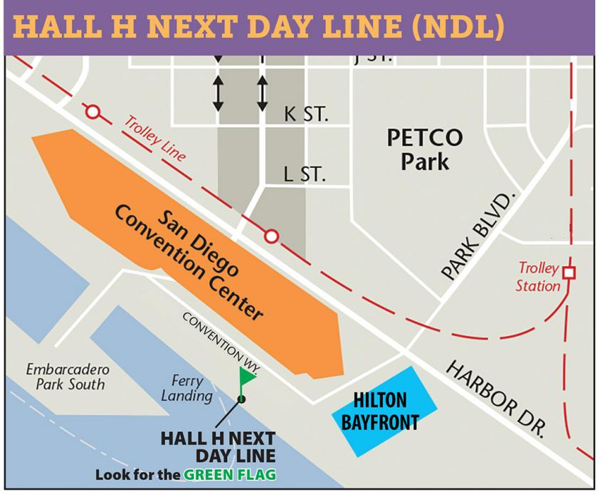 Comic-Con International 2017 Hall H Next Day Line Map