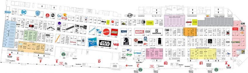 Comic-Con 2019 Exhibit Hall Map