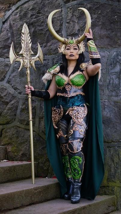 """Most Beautiful: """"Lady Loki in Armor"""" designed and crafted by VivSai"""