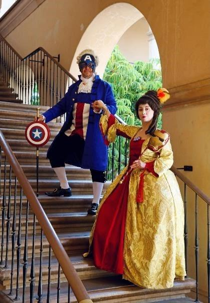 """Best Group: """"Lord Captain America and Iron Lady"""" by Miguel and Lucy Capuchino / Capuchino Cosplay"""