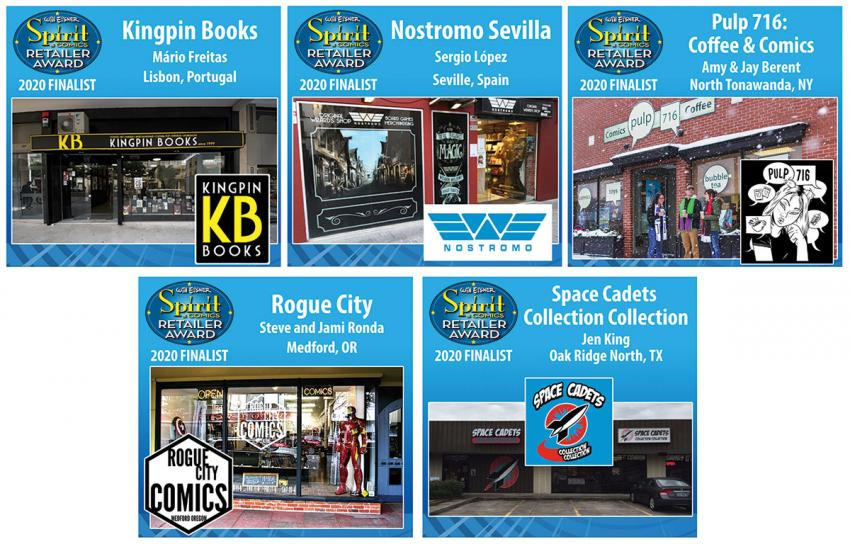 Will Eisner Spirit of Comics Retailer Award 2020 Finalists