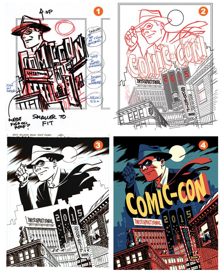 Art of Comic-Con's Souvenir Book Cover by Michael Cho